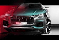 Audi Q8: nuevo boceto nos adelanta el frontal completo del SUV de lujo