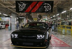 El último Dodge Challenger SRT Demon sale de la cadena de montaje