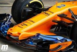 El nuevo y espectacular morro de McLaren ve la luz en Barcelona