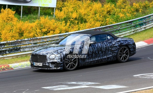 Bentley Continental GTC 2019 - foto espía