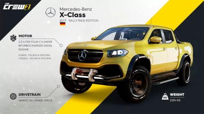 Mercedes Clase X en The Crew 2