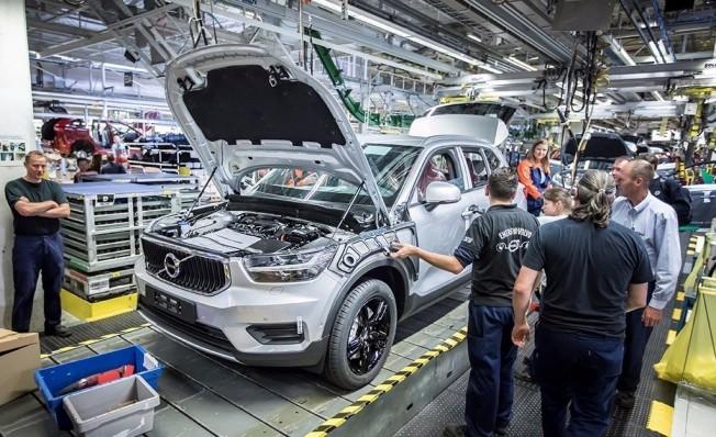 Producción del Volvo XC40 en Gante, Bélgica