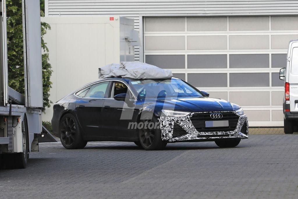 Nuevas fotos espía del futuro Audi RS 7 Sportback muestran el frontal de producción en Nürburgring