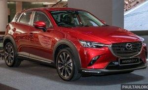 Mazda CX-3: fotos en vivo del nuevo facelift desde Malasia