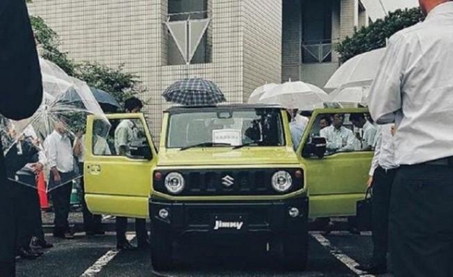 Suzuki Jimny 2019 - foto espía frontal