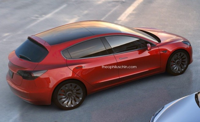 Recreación de un Tesla compacto