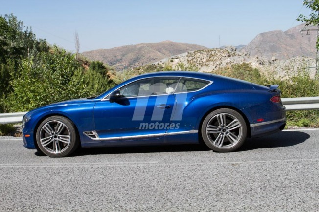 Bentley Continental GT Speed 2019 - foto espía lateral