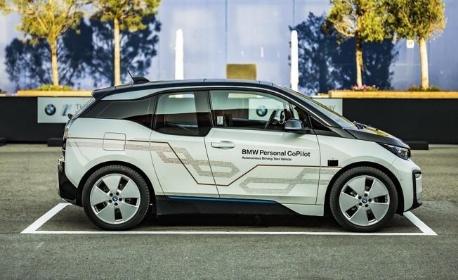 Prototipo de BMW i3 con tecnología de conducción autónoma