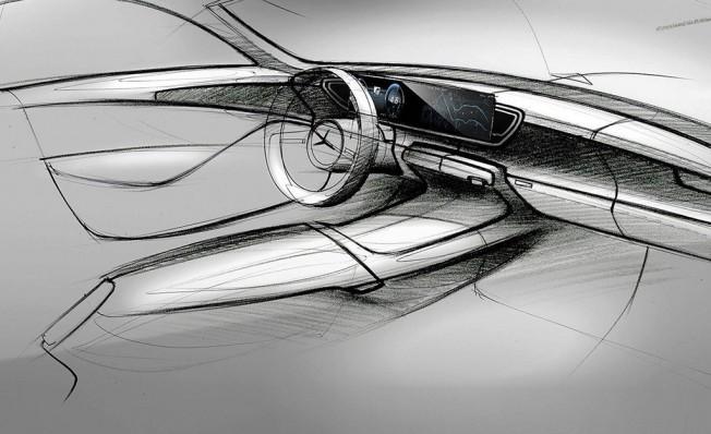 Mercedes Clase GLE 2019 - boceto interior