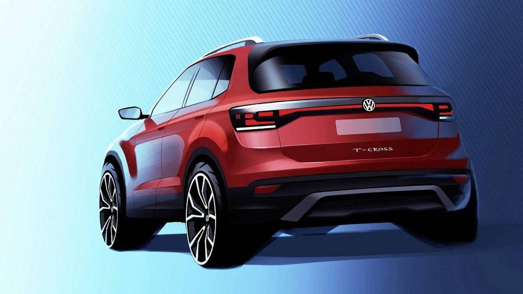 Volkswagen T-Cross 2019: la primera imagen del crossover adelanta su llegada