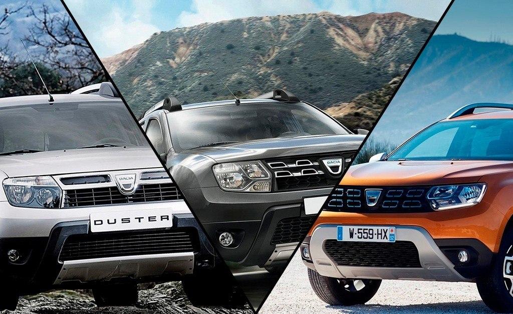 Así ha evolucionado el Dacia Duster a lo largo de sus generaciones