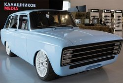 El fabricante de armas Kalashnikov presenta un coche eléctrico de aire retro