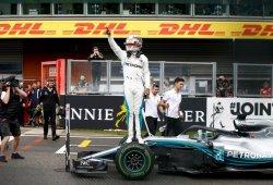"""Hamilton lidera bajo la lluvia: """"En seco también habríamos estado en la pelea"""""""