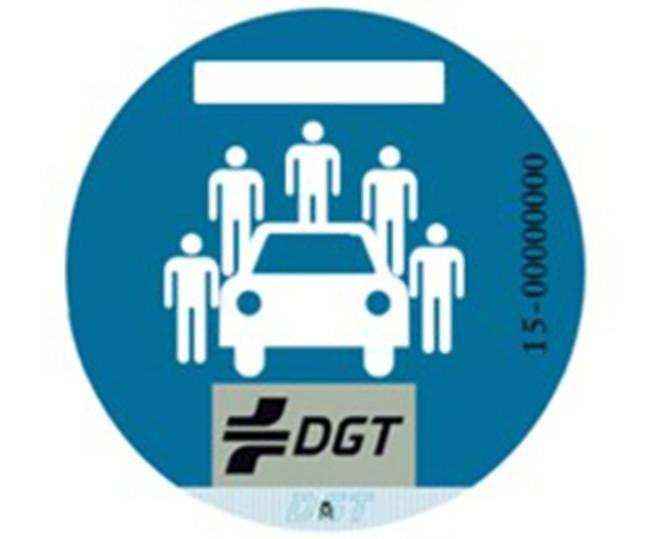 Distintivo de la DGT para coches compartidos