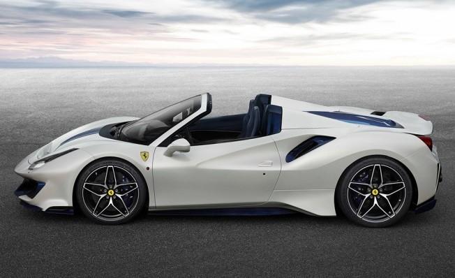Ferrari 488 Pista Spider - lateral