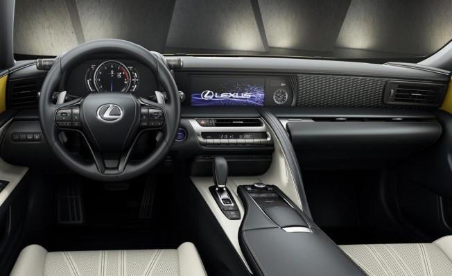 Lexus LC 500h Yellow Edition - interior