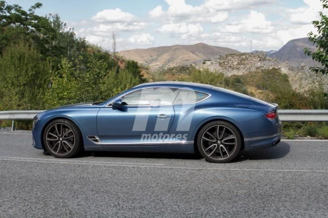 Bentley Continental GT Hybrid - foto espía lateral