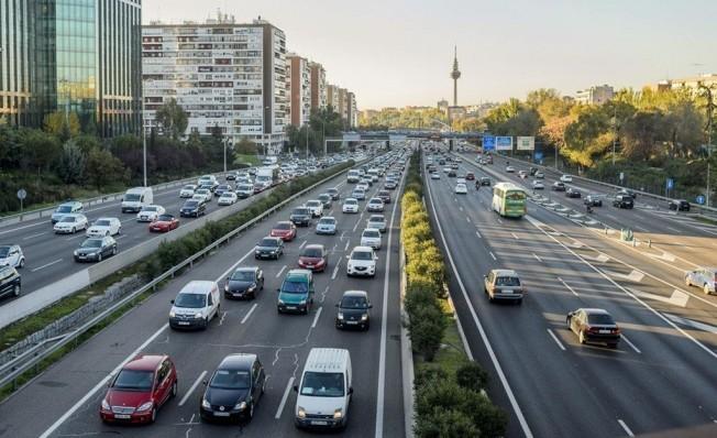 Tráfico denso en España