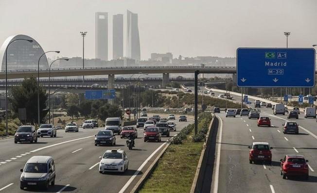 Tráfico rodado en la ciudad de Madrid