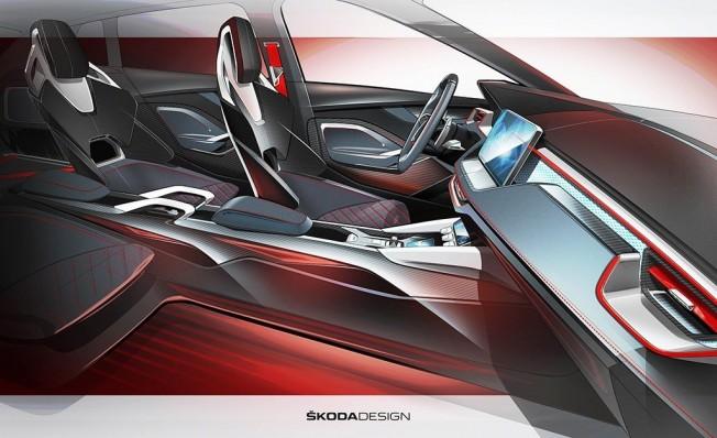 Skoda Vision RS - adelanto del interior
