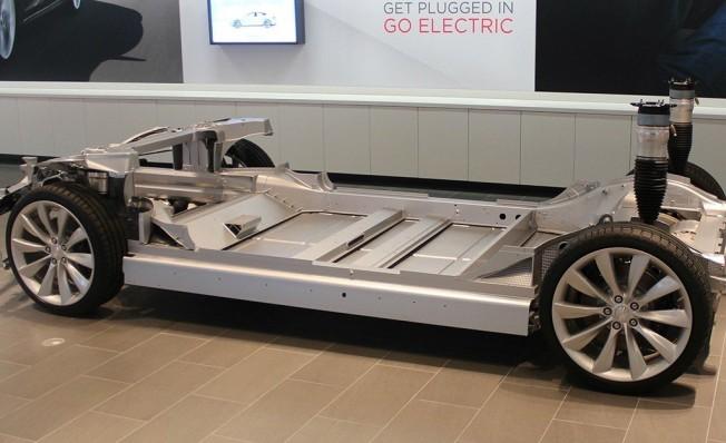 Plataforma y baterías del Tesla Model S