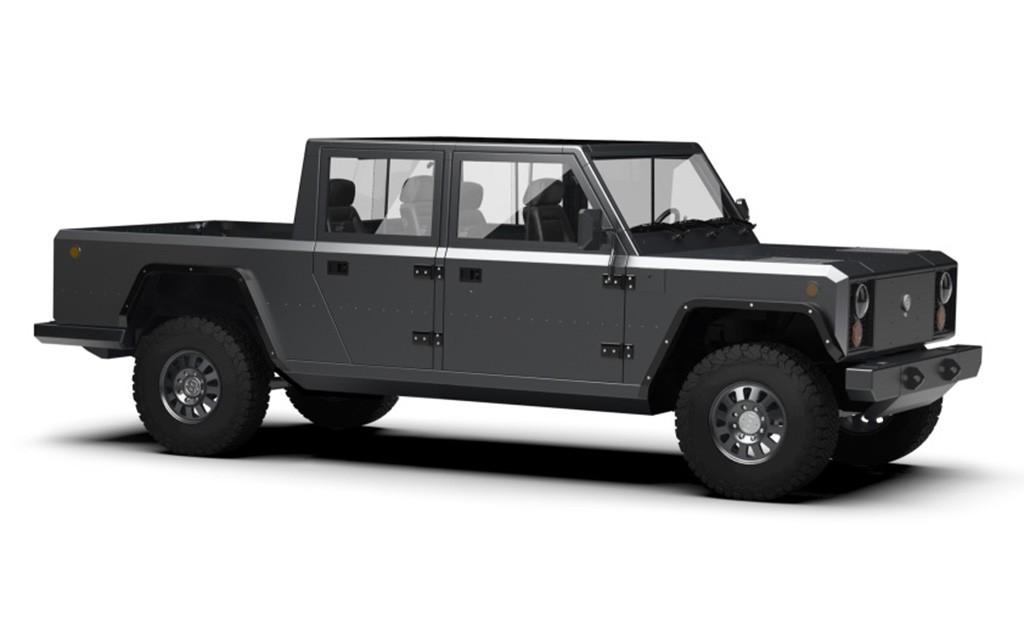 Bollinger B2, un pick-up totalmente eléctrico con batería de 120 kWh