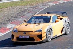 ¿Qué esconde esta mula del Lexus LFA cazada en Nürburgring?