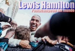El quinto título mundial de Lewis Hamilton en 19 postales