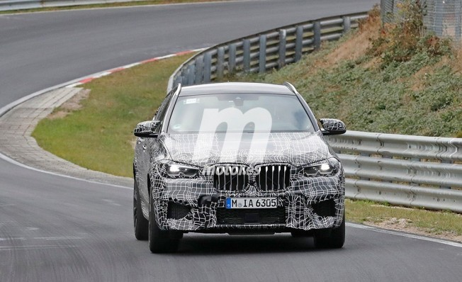 BMW X6 M 2019 - foto espía frontal