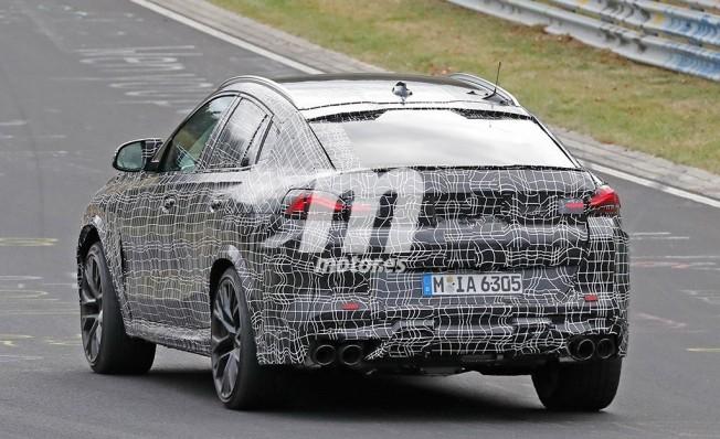 BMW X6 M 2019 - foto espía posterior