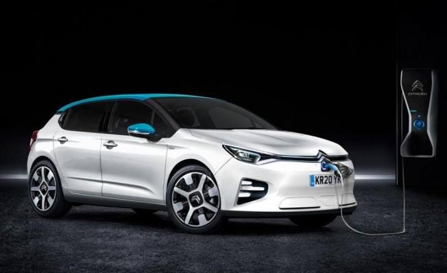 Recreación del Citroën C4 eléctrico