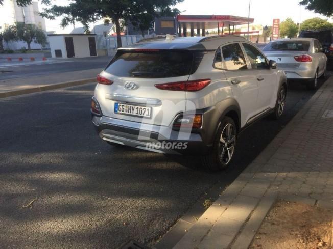 Hyundai Kona Híbrido - foto espía posterior