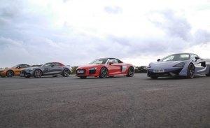 Espectacular drag race entre los roadsters más destacados del mercado