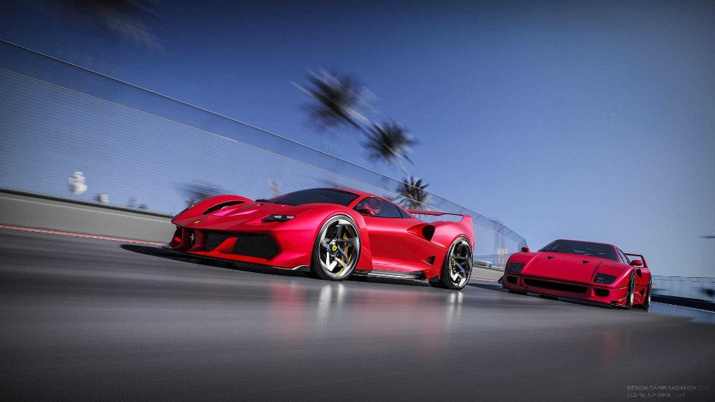 Así sería un Ferrari F40 si fuera fabricado hoy, 30 años más tarde