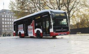 Mercedes entrega su primer autobús eCitaro eléctrico en Hamburgo