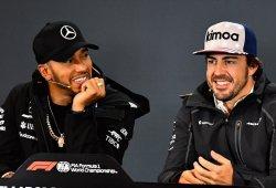"""Hamilton se deshace en halagos hacia Alonso: """"Es parte del motivo por el que estoy aquí"""""""