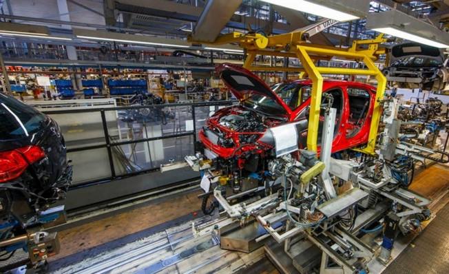 Producción de Vauxhall en la planta de Ellesmere Port