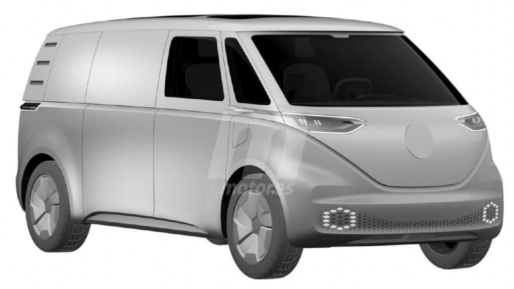 Volkswagen registra los dibujos de patentes de la futura Transporter eléctrica