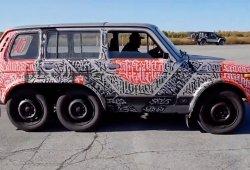 Este Lada Niva 6x6 es la mayor 'bizarrada' que verás en lo que queda de año 2018