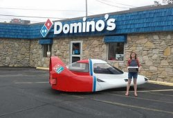 Tritan A2: el vehículo para repartir pizzas más aerodinámico y futurista
