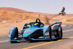 Un halcón peregrino reta al 'Gen 2' de la Fórmula E