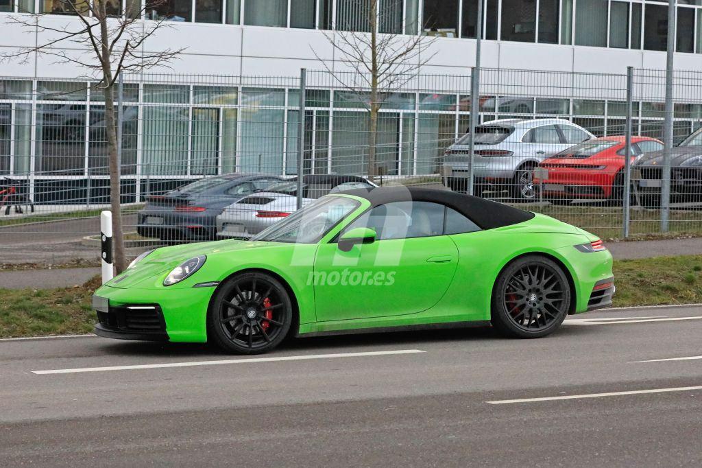 El nuevo Porsche 911 Cabriolet (992) cazado al desnudo por primera vez