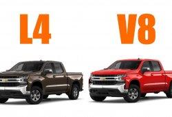 El nuevo Chevrolet Silverado de 4 cilindros consume más que el V8