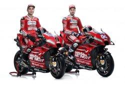 Dovizioso y Petrucci presentan la Ducati GP19 de MotoGP