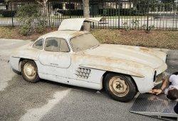 Descubierto un Mercedes-Benz 300 SL Gullwing abandonado en Florida