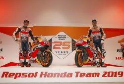 El Repsol Honda se presenta en Madrid con Márquez y Lorenzo