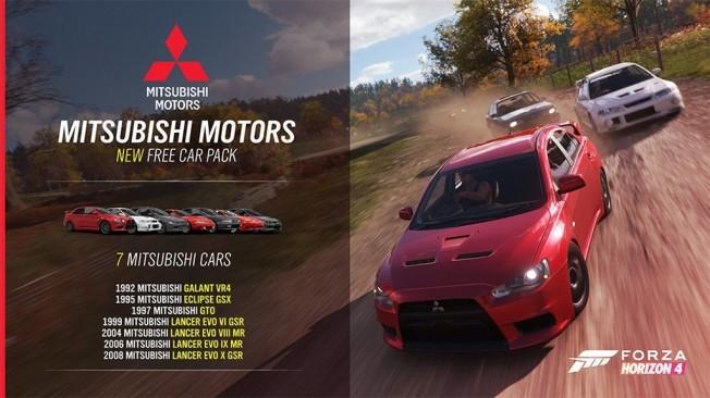 Forza Horizon 4 estrena el paquete de coches Mitsubishi