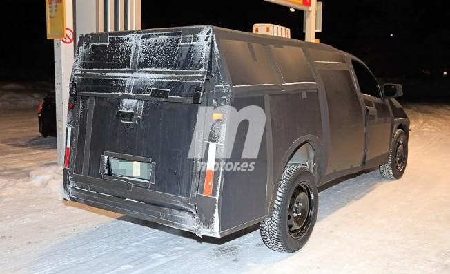 Fiat Mobi Pick-up - foto espía posterior