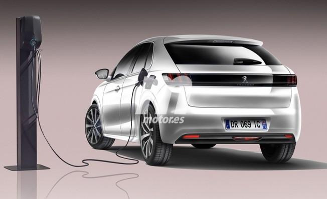 Recreación del Peugeot 208 eléctrico