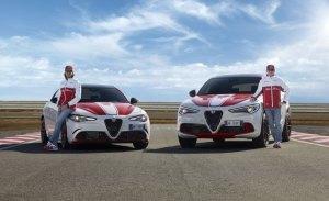 Los Alfa Romeo Giulia QV y Stelvio QV se visten con los colores de Alfa Romeo Racing